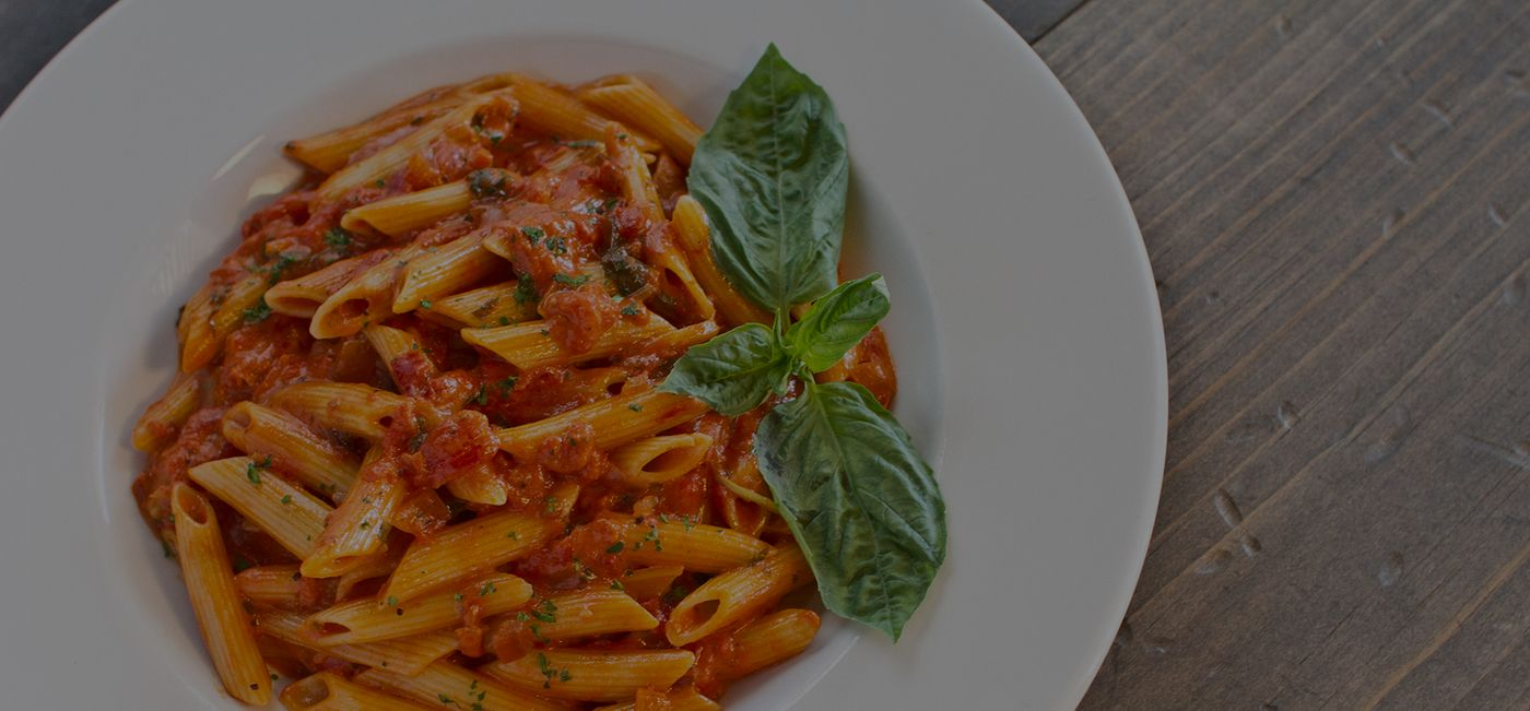 Penne Alla Vodka - Vodka, Cream, Parmigiana Cheese, Onion, & Basil